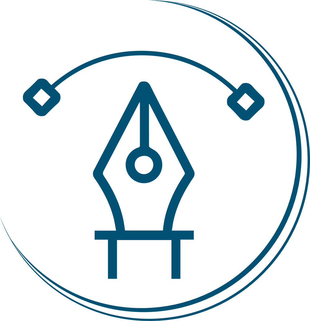 Petite image d'une plume pour illustrer la création du logo