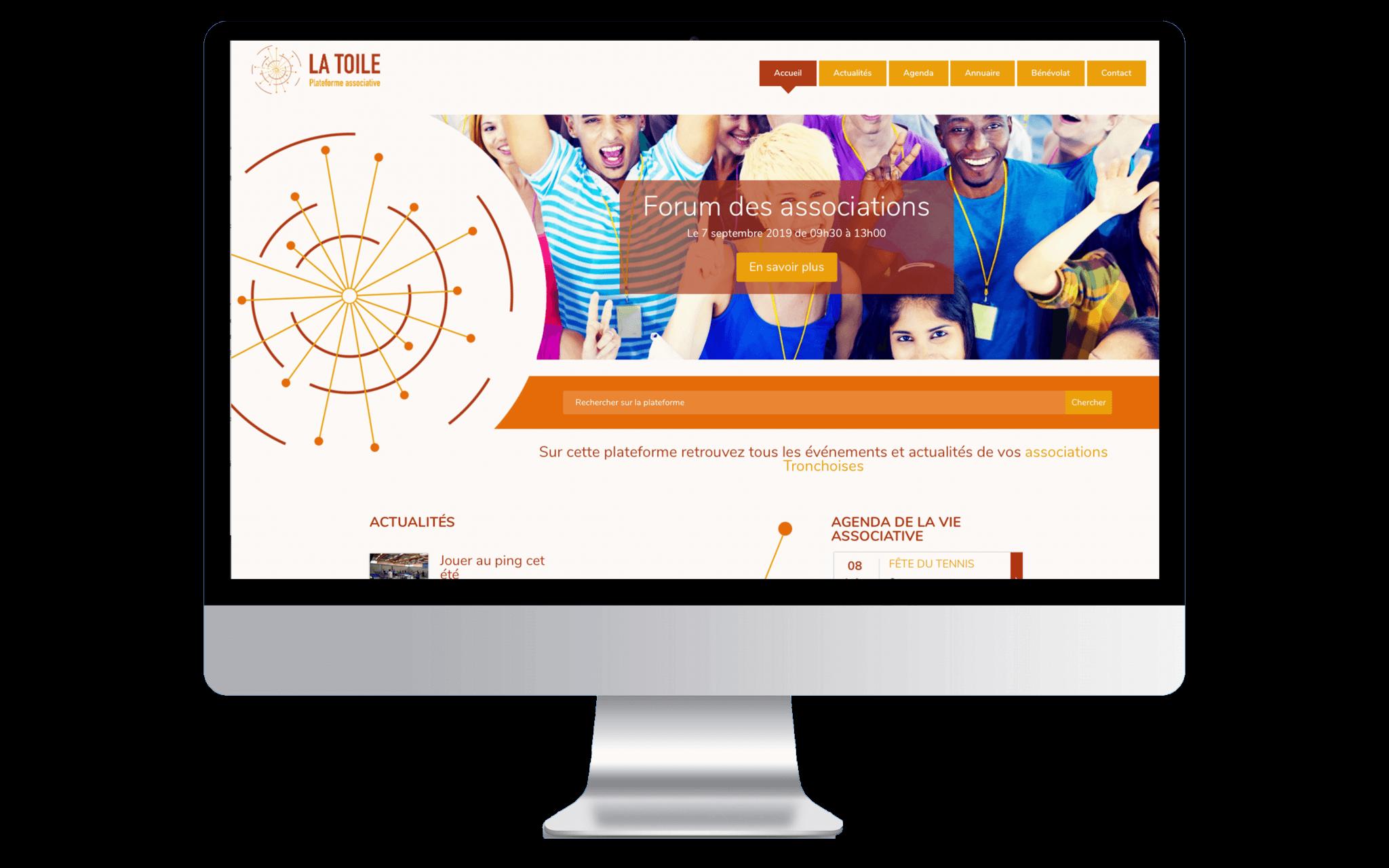Mockup du site web de La Toile La Tronche