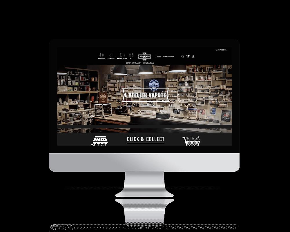Webdesign du site de l'Atelier Vapote